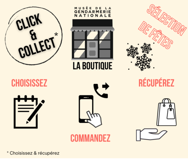 Le click and collect du musée de la Gendarmerie Nationale
