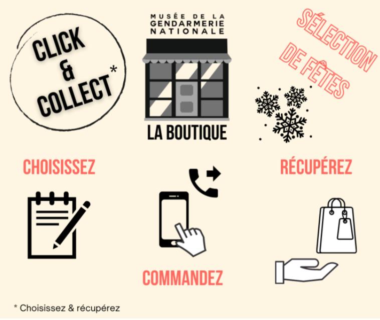 Le click and collect du musée de la Gendarmerie Nationale